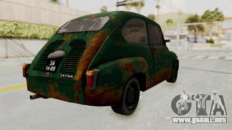 Zastava 750 Rusty para GTA San Andreas left