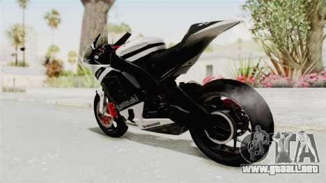 Kawasaki Ninja ZX-RR Streetrace para GTA San Andreas left