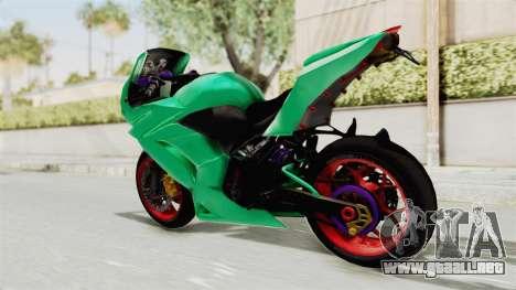 Kawasaki Ninja 250R Race para GTA San Andreas left