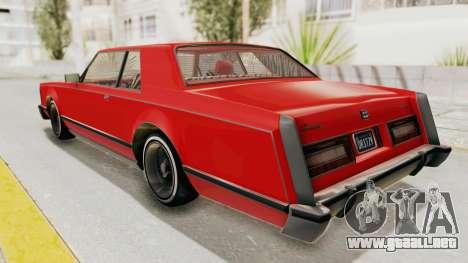 GTA 5 Dundreary Virgo Classic Custom v2 para GTA San Andreas left