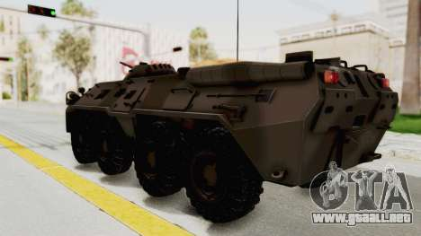 BTR-80 Desert Turkey para GTA San Andreas left
