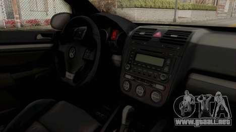 Volkswagen Golf MK5 JDM para visión interna GTA San Andreas