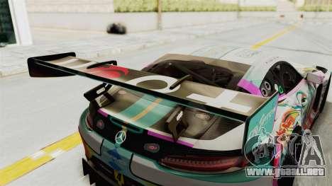 Mercedes-Benz SLS AMG GT3 2016 Goodsmile Racing para vista lateral GTA San Andreas