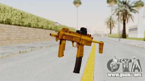 MP7A1 Gold para GTA San Andreas segunda pantalla