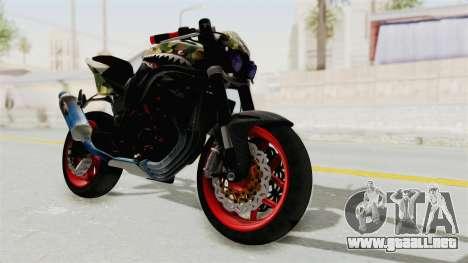 Kawasaki Ninja 250R Naked Camouflage para GTA San Andreas
