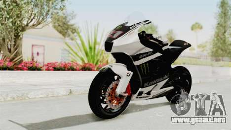 Kawasaki Ninja ZX-RR Streetrace para GTA San Andreas vista posterior izquierda