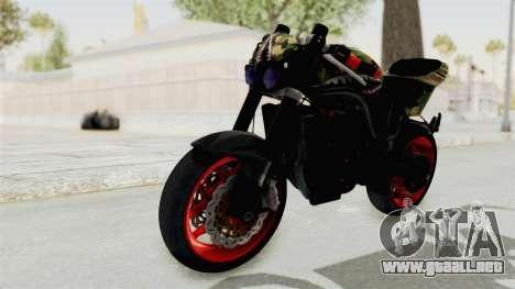 Kawasaki Ninja 250R Naked Camouflage para la visión correcta GTA San Andreas