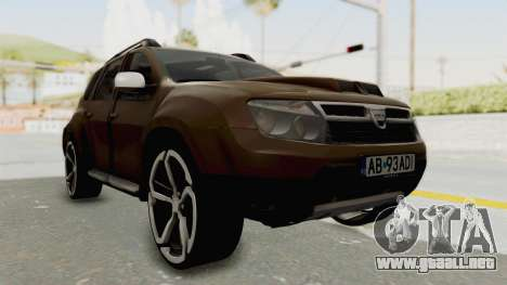 Dacia Duster 2010 Tuning para la visión correcta GTA San Andreas