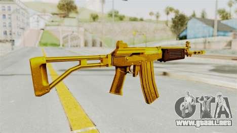 Galil Gold para GTA San Andreas segunda pantalla