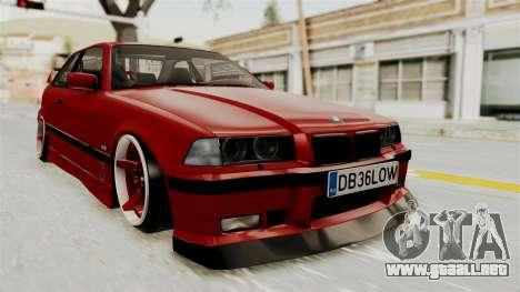 BMW 325i E36 Coupe para la visión correcta GTA San Andreas