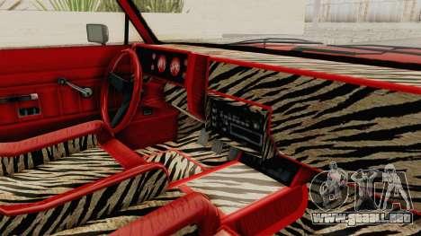 GTA 5 Dundreary Virgo Classic Custom v2 para visión interna GTA San Andreas