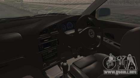 Mitsubishi Lancer Evolution VI Tenryuu Itasha para visión interna GTA San Andreas