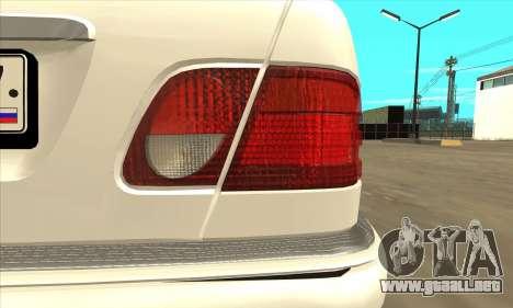 Mercedes-Benz E420 W210 para la visión correcta GTA San Andreas