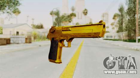 Desert Eagle Gold para GTA San Andreas segunda pantalla