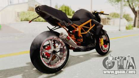 Kawasaki ER 6N Superbike para GTA San Andreas vista posterior izquierda