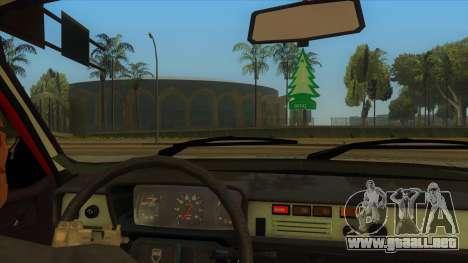 Dacia 1310 Berlina 1985 para visión interna GTA San Andreas