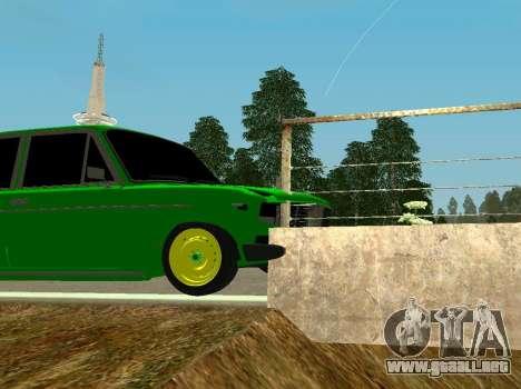 VAZ 2106 Shah para GTA San Andreas vista hacia atrás