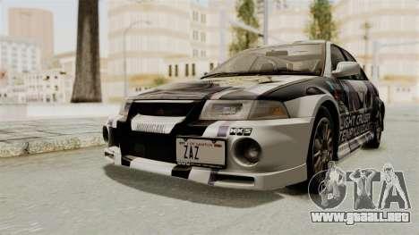 Mitsubishi Lancer Evolution VI Tenryuu Itasha para la visión correcta GTA San Andreas