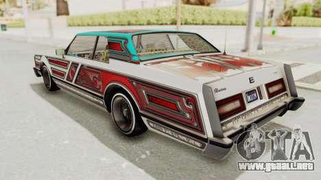 GTA 5 Dundreary Virgo Classic Custom v2 para la vista superior GTA San Andreas
