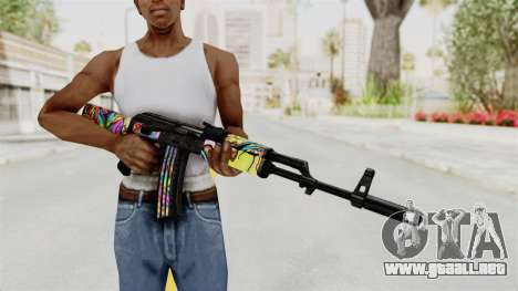 AK-47 Cannabis Camo para GTA San Andreas tercera pantalla