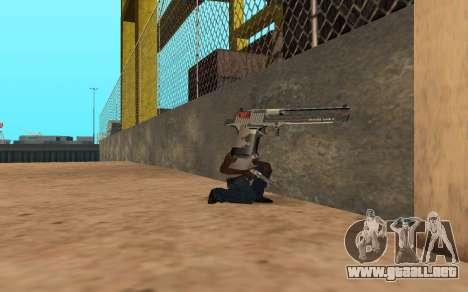 Desert Eagle Cyrex para GTA San Andreas sucesivamente de pantalla
