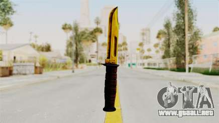Knife Gold para GTA San Andreas