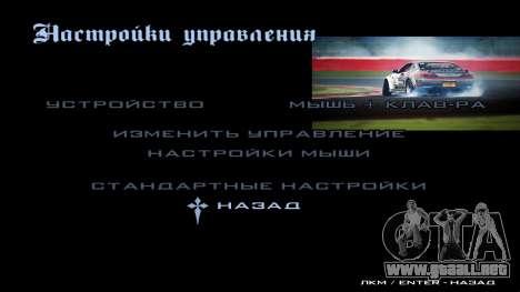 New menu para GTA San Andreas quinta pantalla