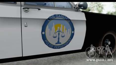 ГАЗ 24 de Policía de la Patrulla de la Carretera para GTA San Andreas vista hacia atrás