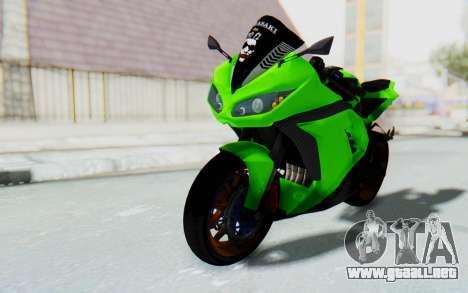 Kawasaki Ninja 250 Abs Streetrace para la visión correcta GTA San Andreas