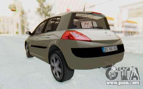 Renault Megane 2 para la visión correcta GTA San Andreas