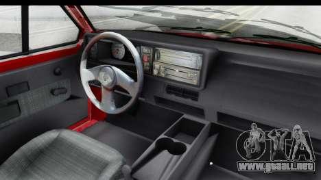 Volkswagen Golf Citi 1.8 1998 para visión interna GTA San Andreas