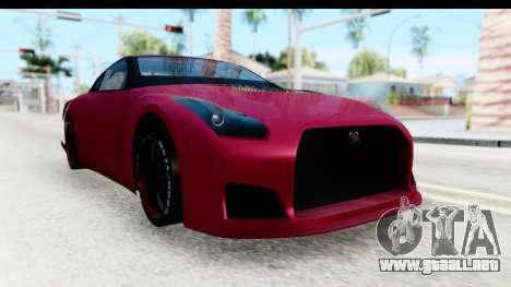 Nissan GT-R R35 Top Speed para la visión correcta GTA San Andreas