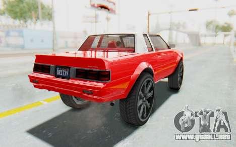 GTA 5 Willard Faction Custom Donk v2 IVF para GTA San Andreas left