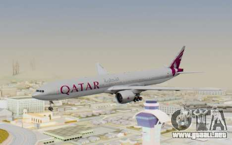 Boeing 777-300ER Qatar Airways v1 para GTA San Andreas