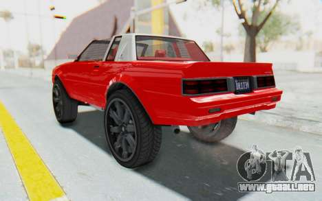 GTA 5 Willard Faction Custom Donk v2 IVF para GTA San Andreas vista posterior izquierda