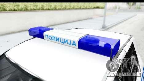 Fiat Punto Mk2 Policija para visión interna GTA San Andreas