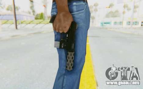 GTA 5 Vom Feuer Machine Pistol para GTA San Andreas tercera pantalla