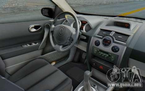 Renault Megane 2 para visión interna GTA San Andreas