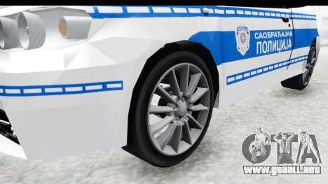 Fiat Punto Mk2 Policija para GTA San Andreas vista hacia atrás
