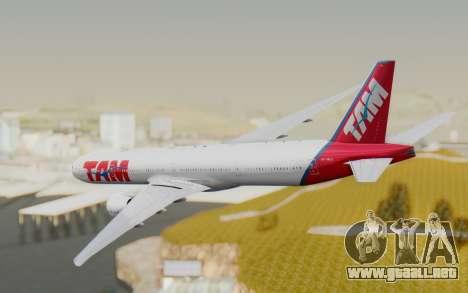 Boeing 777-300ER TAM líneas Aéreas para la visión correcta GTA San Andreas