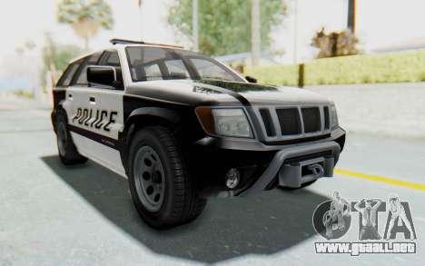 Canis Seminole Police Car para la visión correcta GTA San Andreas