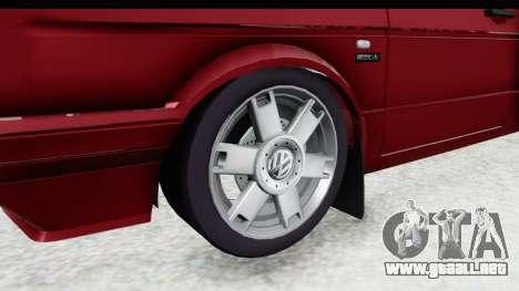 Volkswagen Golf VeloCiti 2008 Updated para GTA San Andreas vista hacia atrás