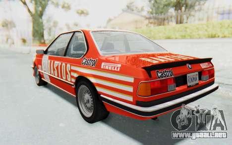 BMW M635 CSi (E24) 1984 HQLM PJ3 para vista lateral GTA San Andreas