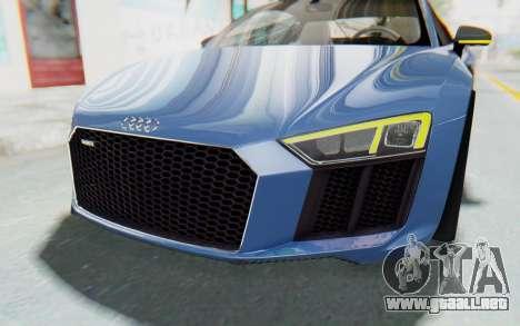 Audi R8 2017 para la vista superior GTA San Andreas