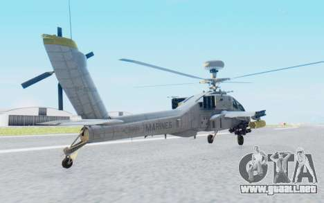 AH-64 Apache Marines para GTA San Andreas left