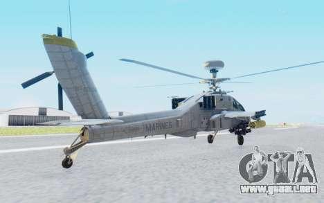 AH-64 Apache Marines para GTA San Andreas left
