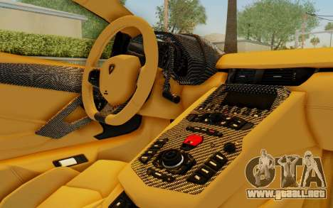Lamborghini Aventador LP700-4 LB Walk Fenders para las ruedas de GTA San Andreas