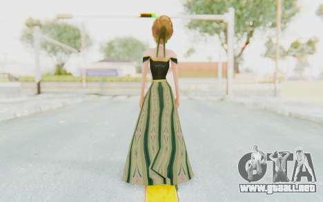 Frozen - Anna Coronation Dress para GTA San Andreas tercera pantalla