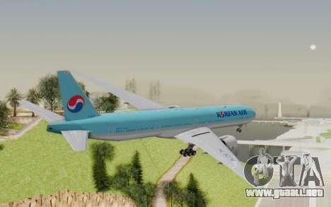 Boeing 777-300ER Korean Air para la visión correcta GTA San Andreas