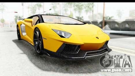 Lamborghini Aventador LP700-4 LB Walk para GTA San Andreas vista hacia atrás